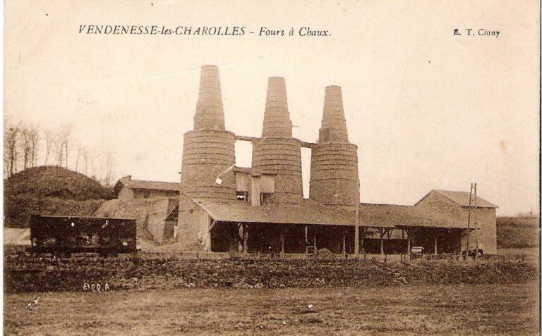 Les fours à chaux à Vendenesse les Charolles - histoire