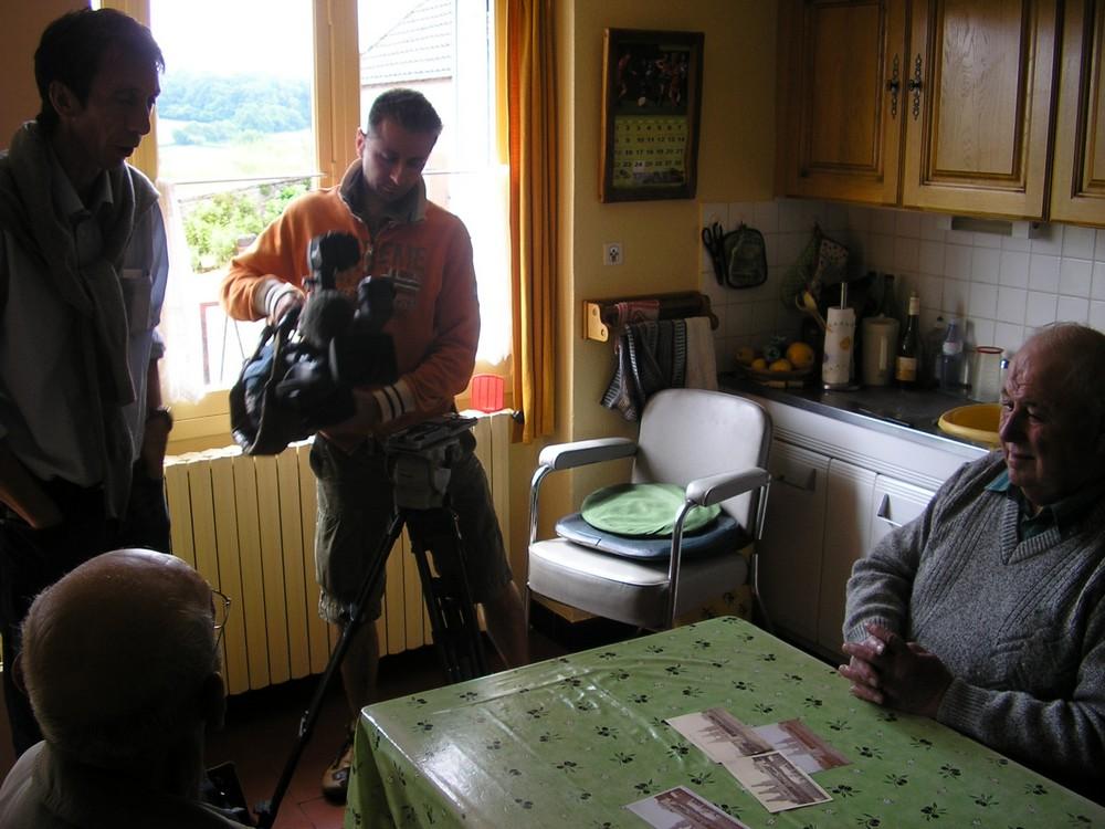 Une équipe de TF1 aux Fours à Chaux - 2008