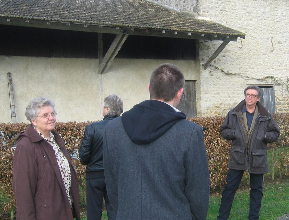 Visite Jacques Legros TF1 aux Fours à Chaux